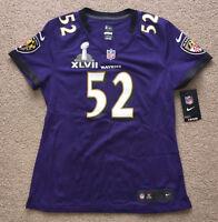 Ray Lewis Baltimore Ravens Nike Women's Jersey Super Bowl XLVII patch. NWT.