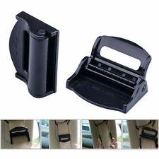 2xCar Safety Seat Belt Buckle Clip Extender Safety Alarm stopper Black Universal