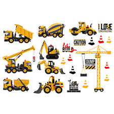 Cartoon Transport Cars Truck Digger DIY Wall Stickers For Kids Rooms
