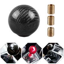 Universal Car SUV Gear Shift Knob Carbon Fiber Shifter Lever Cover Ball Shape