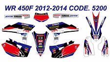5200 YAMAHA WR 450F 2012-2015 Autocollants Déco Graphics Stickers Decals
