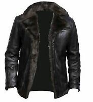 Mens B3 Aviator Real Shearling With Sheepskin Leather Flight Bomber Jacket