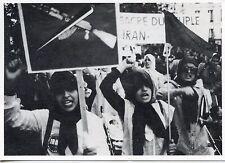 JANVIER 1979 AYATOLLAH KHOMEINI MANIFESTATION CONTRE LES MASSACRES EN IRAN