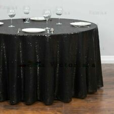 Round Sequin Tablecloths Table Cloth Cover Wedding Event Party Tableware White