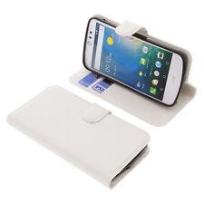 BOLSA para Acer Liquid Z530 smartphone estilo libro Funda protectora blanco