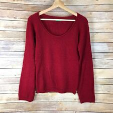 United Colors of Benetton Womens Red Vintage Wool Sweater Warm Long Sleeve Sz M