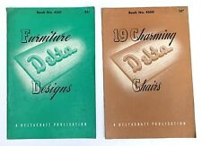 Vtg Delta Power Tool Deltacraft Charming Chairs Furniture Designs booklets 1940