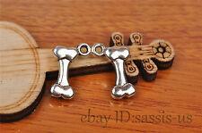 10pcs 16mm charm dog bone pendant DIY Jewelry Making Bracelet Tibet Silver 7241