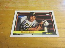 Orlando Merced Autographed Signed 1992 Topps #637 Card MLB Pittsburgh Pirates