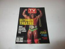 ULTIMATE WARRIOR WWF rare TV GUIDE Canada July 28 1990 Jeanne Cooper NKOTB