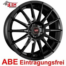 "18"" ABE Alufelgen TEC AS2 E4 Black Glossy für VW Golf 7 VII R AU, AUV"