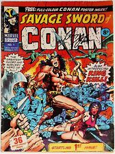SAVAGE SWORD OF CONAN #1-3~MARVEL COMICS UK~SIGNED ROY THOMAS~BARRY SMITH~1975
