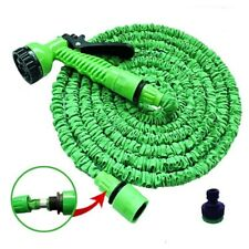 New listing Deluxe 100 Foot Expandable Flexible Garden Water Hose w/ Spray Nozzle Green