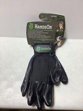 HandsOn Revolutionary Grooming ~ Bathing Gloves for Pets/ Horses Black ~ Large