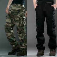 Neu Mens Casual Military Army Cargo Loose Pants Camo Combat Work Pants Trousers