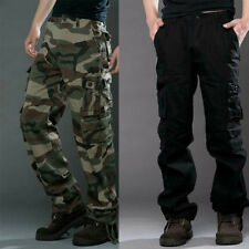 Men Casual Military Army Cargo Loose Pants Trousers Camo Combat Work Pants