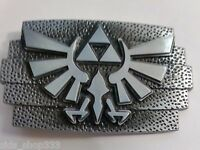 SQP1 Legend of Zelda Game TRIFORCE Metal BELT BUCKLEAntique silver color cosplay