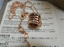 Auth Bvlgari B.zero1 Pink Gold 45.4cm Necklace Pendant 4bands