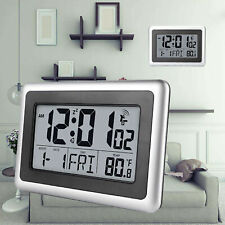 Digital Atomic Indoor Wall Desk Clocks Large Screen Calendar Timer 7 Language