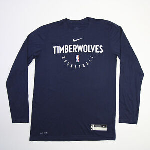 Minnesota Timberwolves Nike Nike Tee Long Sleeve Shirt Men's Navy Used