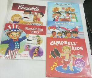 Set of 5 - Campbell's Soup Kids Calendars Vintage New Art Collectible Campbell
