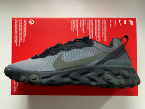 NEW Mens Nike React Element 55 Trainers Sneakers Running Casual Gym Ltd 8 UK