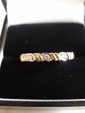 9 CARAT GOLD 5 STONE BRILLIANT CUT DIAMOND ETERNITY WEDDING RING MADE IN UK BNIB