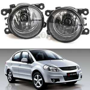 2X Front Bumper Fog Light Lamps w/ H11 Bulbs For Suzuki SX4 /Grand Vitara /Swift