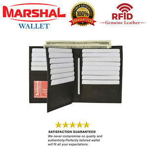 RFID Blocking Bifold Hipster Multi Credit Card ID Holder Wallet Premium Leather