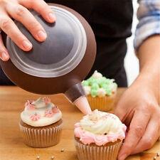 Silicone Macaron Baking Decorating Pen Pastry Cream Cake Muffin 3 Nozzle Set/Kit