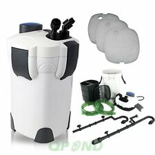 3-STAGE AQUARIUM CANISTER FILTER 265 GPH FOR FRESH/SALT WATER UP TO 80 GAL HW302
