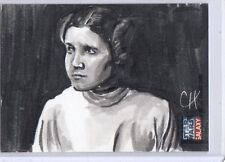 Star Wars Galaxy 7  Princes Leah Carrie Fisher  Chris Henderson sketch card