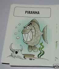 Piranha fish - Games Collector card