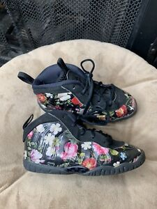 Nike Little Posite One Sz 6C Foamposite AT8250-001 Floral Shoe Toddler