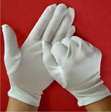 Soft Cotton Blend White  Micro Dotted Grip / Fine Handling Gloves ATCA