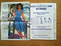 SUPER PATRON PRIMA 1985 N°5 - ROBE CLASSIQUE A JOURS TAILLES 36 A 44