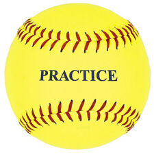 "12"" Yellow Practice Softball - One Dozen"