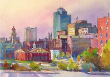 Worcester CENTRAL ST FIRE STATION  Bob Aiello 16x22 Giclee Art Canvas