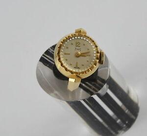 Piaget 18ct Gold Ring Watch - Rare Vintage 1950's Mechanical Watch - 18K