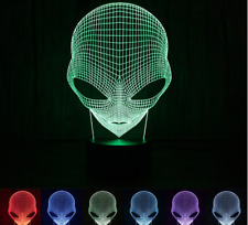 3D Alien Lamp Special Unique Lamp Shape LED Table Lamp with USB Power Illusion