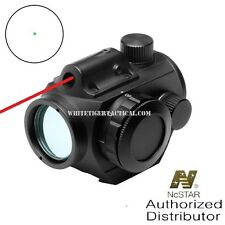 NcSTAR VDGRLB Micro 3 MOA Green Dot Reflex Sight Optic w/ Integrated Red Laser
