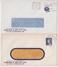 Stamps Australia Sherlock & Hay Pty Ltd Frankston Victoria advertising covers
