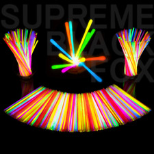 100 Premium Glow Sticks Bracelets Neon Light Glowing Party Favors Rally Raves