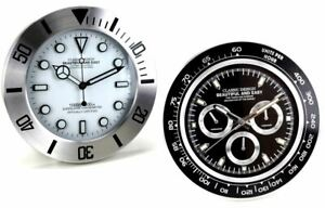 Wall Clock Wall Metal Three Spheres White And Three Counters Black 13 3/8in