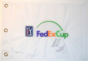 BUBBA WATSON Signed PGA Logo FEDEX CUP Embroidered GOLF FLAG