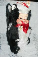 "Vintage The Rushton Company Skunk Plush Rubber Face Toy Stuffed Animal 8 1/2"""
