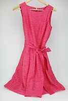 Tommy Hilfiger Dress Sz 6 illusions A-Line Pink T H Fit & Flare Women's