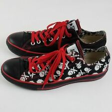 "Converse  All Star ""Red"" Skull & Crossbones Shoe M 8.5 W 10.5"
