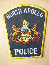 Patches: NORTH APOLLO POLICE PATCH(NEW. apx.4.6x3.8 inch)