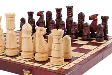 Chess set Castle, case size 50 x 50 cm, hand crafted  pieces, King 120mm